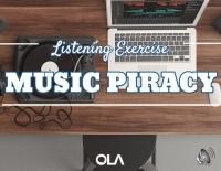 Ejercicio de listening sobre la pirateria de la música
