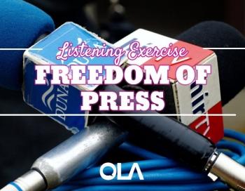 Ejercicio de listening sobre la libertad de prensa