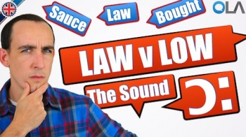 How to pronounce Low v Law in English