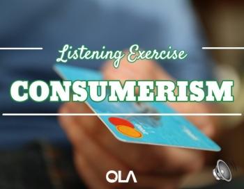 Ejercicio de listening sobre el consumismo