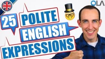25 Expresiones corteses en inglés