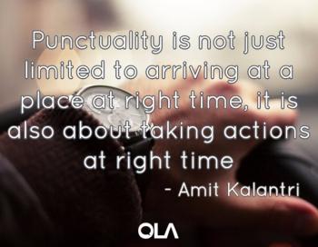Cita sobre la puntualidad