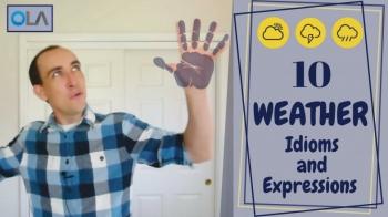 10 expresiones en inglés relacionadas con el clima