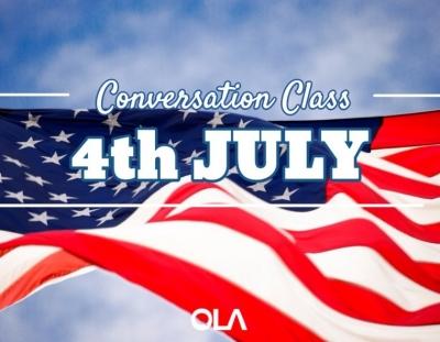 Clase de conversación sobre el 4 de julio en los EEUU