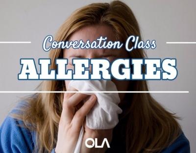 Clase de conversación sobre las alergias