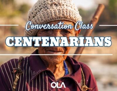 Clase de conversación sobre los centenarios
