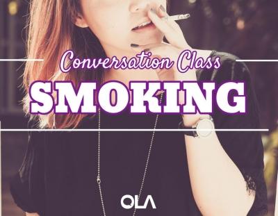 Clase de conversación sobre el tabaco