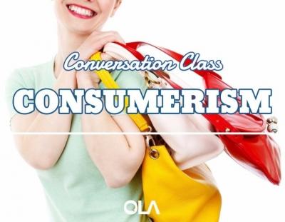 Clase de conversación sobre el consumismo