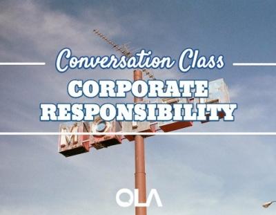 Clase de conversación sobre la responsabilidad corporativa