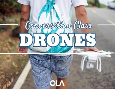 Clase de conversación sobre los drones