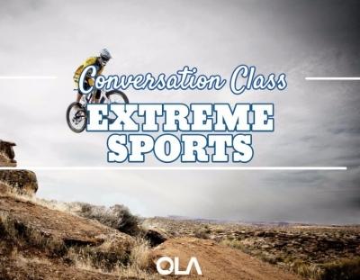 Clase de conversación sobre los deportes de riesgo