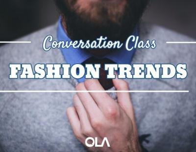 Clase de conversación sobre la moda