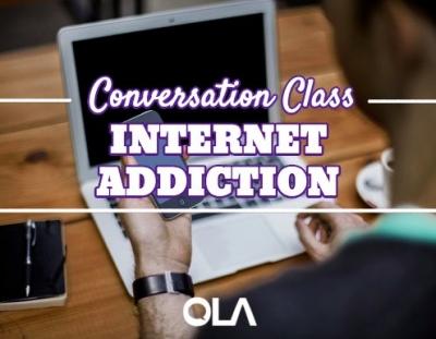 Clase de conversación sobre la adicción a internet