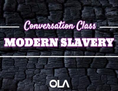 Clase de conversación sobre la esclavitud moderna