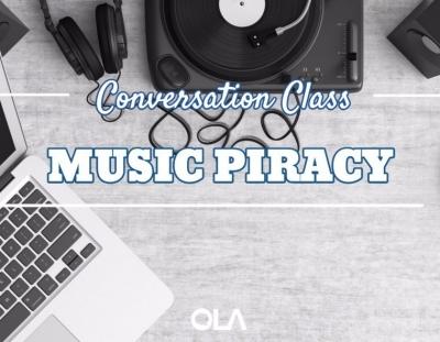 Clase de conversación sobre la piratería de la música