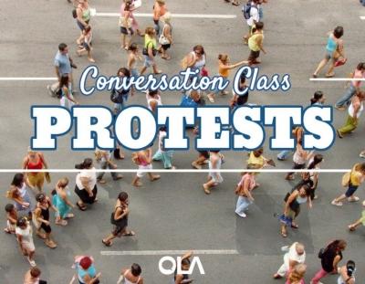 Clase de conversación sobre las manifestaciones