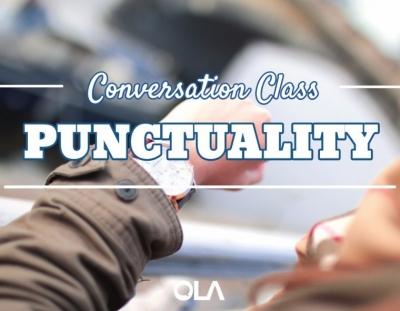Clase de conversación sobre la puncualidad
