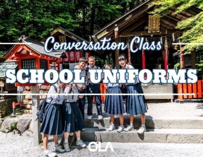 Clase de conversación sobre los uniformes del colegio