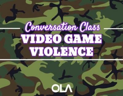 Clase de conversación sobre la violencia en videojuegos