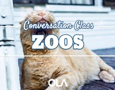 Clase de conversación sobre los zoos