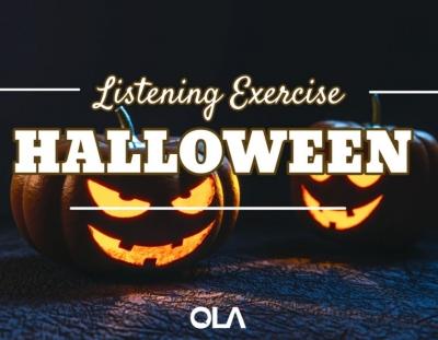 Ejercicio de listening sobre Halloween