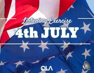Ejercicio de listening sobre el 4 de julio