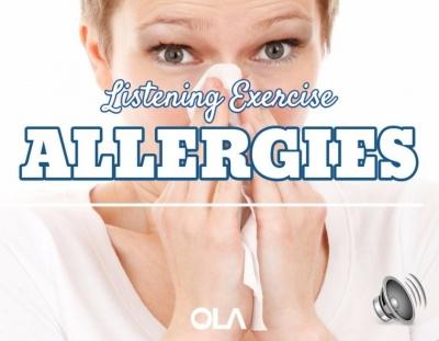 Ejercicio de listening sobre las alergias