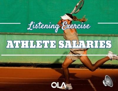 Ejercicio de listening sobre los salarios de los atletas