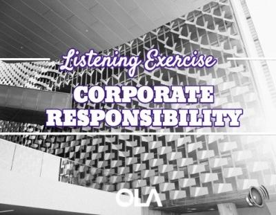 Ejercicio de listening sobre la responsabilidad corporativa
