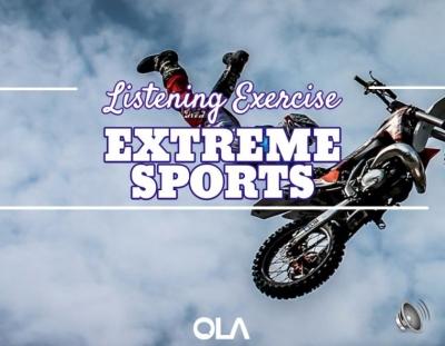 Ejercicio de listening sobre los deportes de riesgo