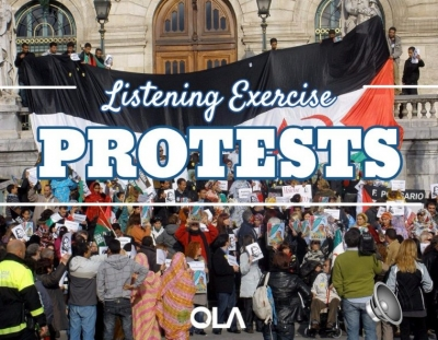 Ejercicio de listening sobre Manifestaciones