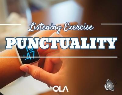 Ejercicio de listening sobre la puntualidad
