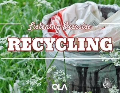 Ejercicio de listening sobre Reciclaje