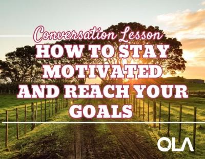 Clase de conversación en inglés avanzado sobre la motivación