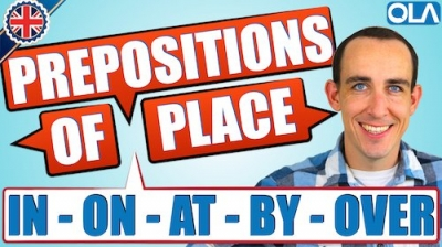 Prepositions of Place in English | IN ON AT BY UNDER OVER