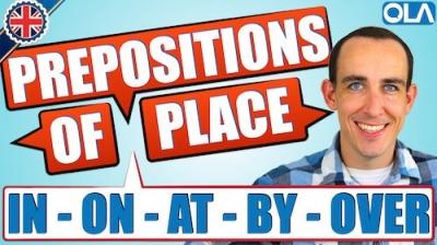 Preposiciones de lugar en inglés | IN ON AT BY UNDER OVER