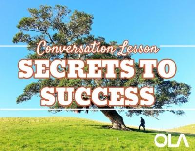 Clase de conversación en inglés sobre los secretos para ser exitoso.