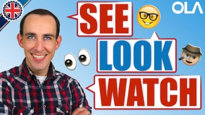 "La diferencia entre ""see"", ""look"" y ""watch"""