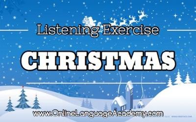 Ejercicio de listening sobre la navidad