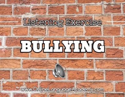 Ejercicio de listening sobre el acoso