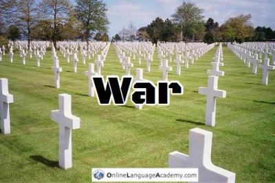Cementerio de guerra en Francia