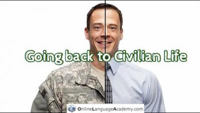 Volviendo a la vida civil tras la vida militar.