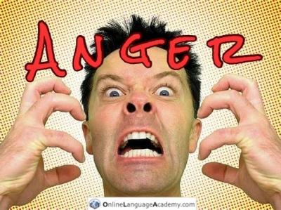 Hombre enfadado