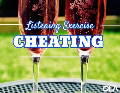 Ejercicio de listening sobre la infidelidad