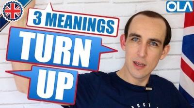 3 Significados del Frase Verbal TURN UP
