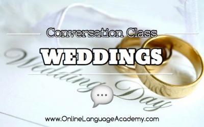 Clase de conversación sobre las bodas