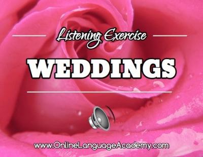 Ejercicio de listening sobre la boda de Ross y Emily
