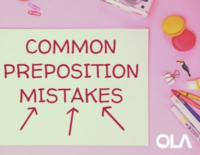 10 errores comunes al usar preposiciones